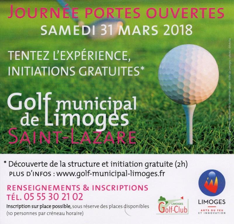Journ e portes ouvertes 31 mars 2018 golf club de limoges for Portes ouvertes limoges